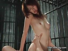 Jailed asian babe