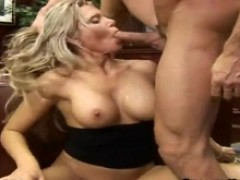 Bigtitted blondie Ana Nova swallows And has Her tunnels Smashed
