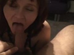 wifey swallowing penis